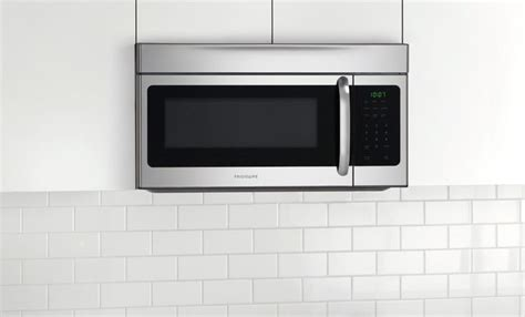 built in microwave with exhaust fan frigidaire ffmv164ls 30 inch over the range microwave oven