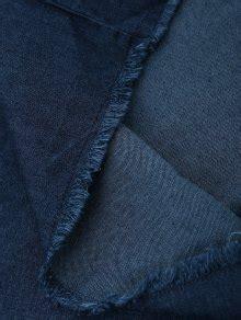 Frayed Trim Wide Leg frayed trim cami wide leg denim overalls cerulean