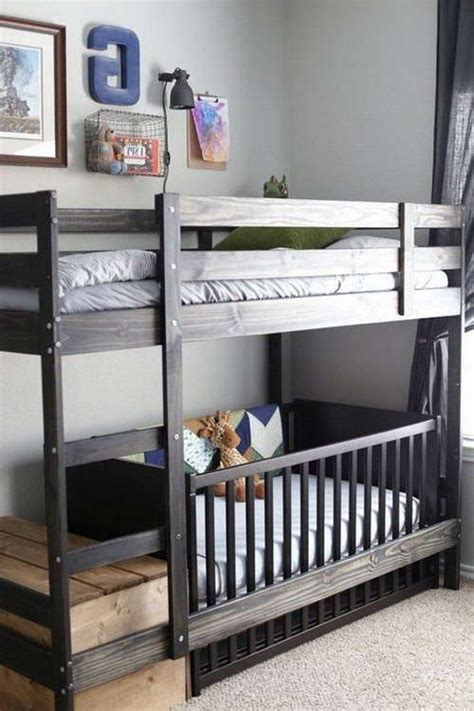 Bunk Bed With Crib Underneath Best 25 Bunk Bed Crib Ideas On Toddler Bunk Beds Cot Bunk Bed And Bunk Bed Mattress
