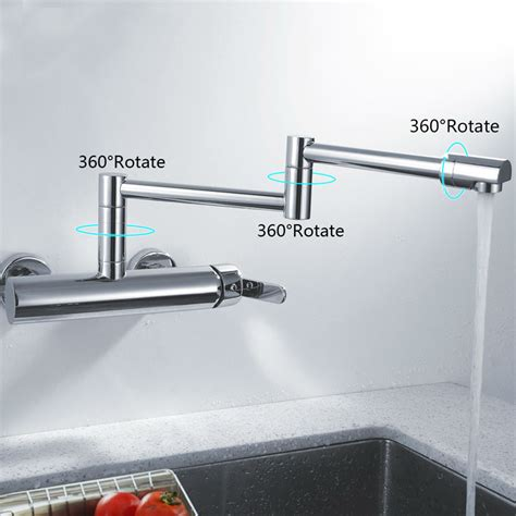 Cover Plate Kran Shower T8 toccoa single handle pot filler kitchen faucet with 360 degree rotation funitic