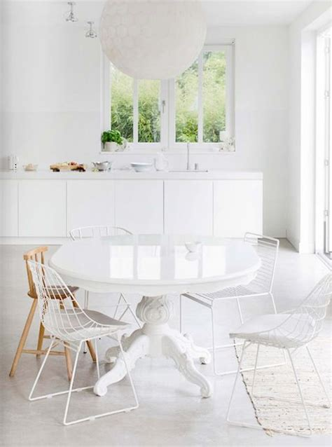 all white dining rooms mismatched chairs lark linen