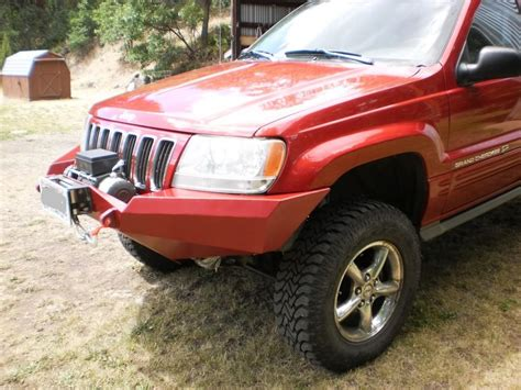 jeep grand front bumper 99 04 wj front winch kit diy road