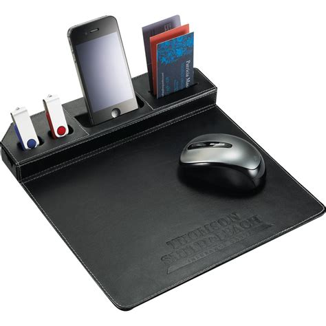 Phone Giveaways - metropolitan mouse pad with phone holder a classy tech giveaway