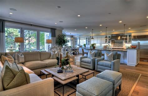open concept and great room with neutral colors