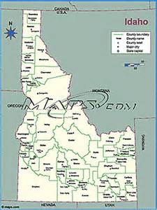 Idaho County Map Outline by Idaho Overview Flag Seal Capital Population And Facts