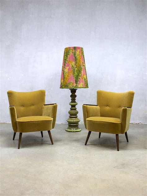 vintage cocktail chair velvet arm chair velours lounge fauteuil