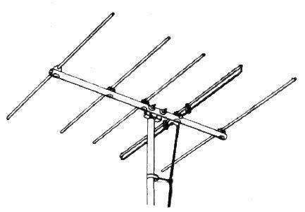 antena tv antena yagi file yagi tv antenna 1954 png