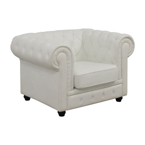 white leather chair 86 chesterfield tufted white leather accent chair