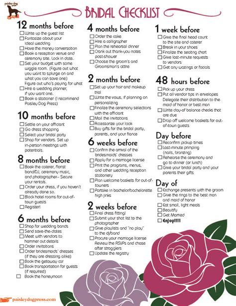 Wedding Checklist One Week by Wedding Planner Wedding Checklist Timeline 6 Months