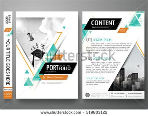 home and design magazine portfolio design template stock images royalty free images