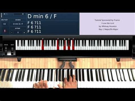 Tutorial Piano Whitney Houston | i love the lord by whitney houston piano tutorial