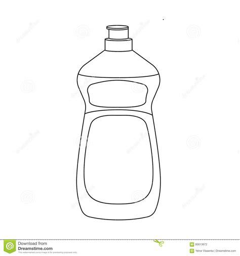 dishwashing soap icon  outline style isolated  white