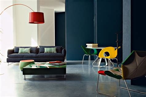 colorate interni pareti verdi e viola with