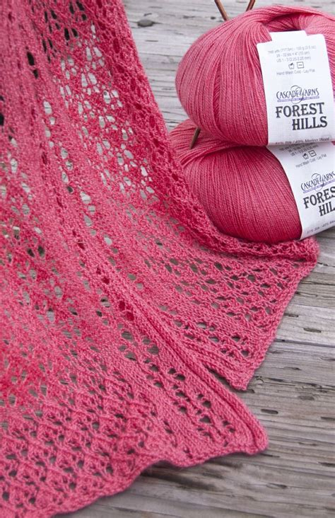 finely a knitting free pattern highlight cascade yarns forest lace