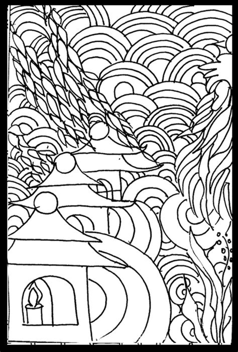 Coloring Pages Legendary Landscapes Colouring Grows Up Japanese Landscape Kids Page Gallery