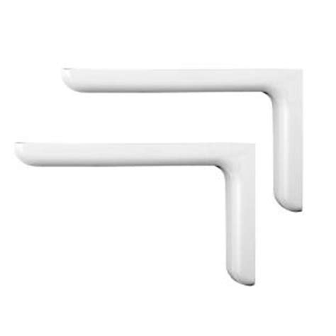 decorative shelf brackets home depot knape vogt vinyl finished 7 1 4 in white designer steel