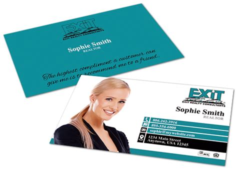Free Exit Realty Real Estate Business Cards Template by Realty Business Cards Choice Image Business Card Template