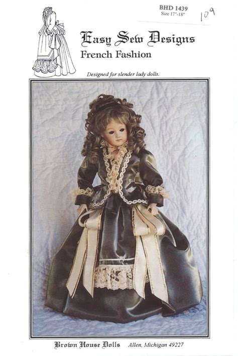 brown house dolls french fashion 1880 s style dress for 18 lady doll brown
