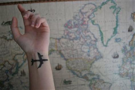 tattoo wrist airplane aaaa airplane map plane tattoo wrist image 57331