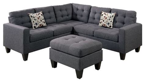 Gray Modular Sectional Sofa Shop Houzz Infini Furnishings Modular Sectional Sofa With Ottoman Gray Sectional Sofas