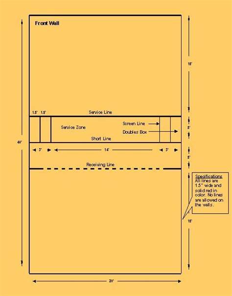 racquetball court diagram racquetball court racquetball fitness