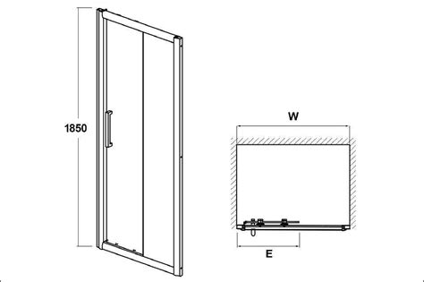 Atlantic Shower Door Atlantic 1200mm Sliding Shower Door Trade Bathrooms Sliding Shower Doors