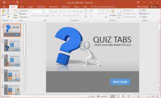 Free Interactive Powerpoint Presentation Templates by Create A Quiz In Powerpoint With Quiz Tabs Powerpoint Template