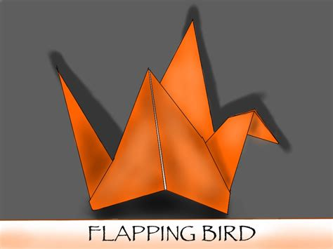 Flapping Origami Bird - flapping bird origami by kevsky draws on deviantart