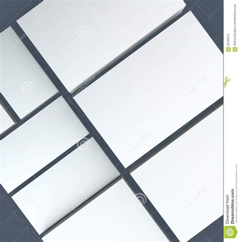Many Cards Template To Presentation Stock Illustration Image 56400075 Presentation Note Cards Template