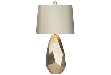 Table lamp faceted gold living spaces