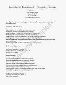 respiratory therapist resume templates great sle resume resume sles registered