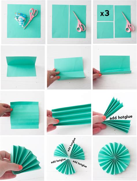 Make Paper Fan - folding paper fans 187 be crafty