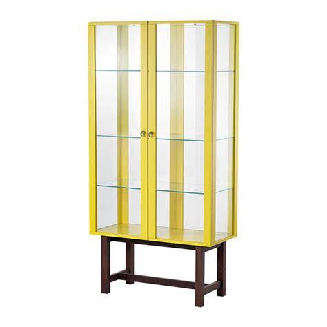 Ikea Stockholm Cabinet stockholm glass door cabinet yellow 90x180 cm ikea
