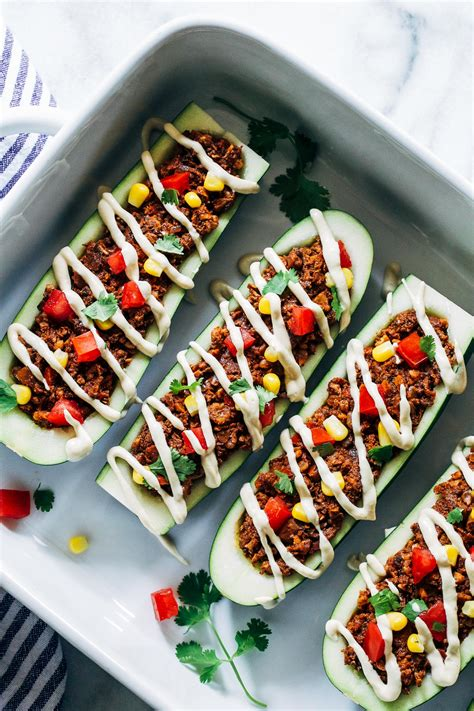 vegetarian gluten free zucchini boats vegan zucchini taco boats making thyme for health