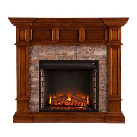 Electric Fireplace With Faux by Southern Enterprises Merrimack Faux Electric