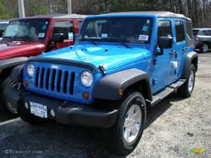 2011 cosmos blue jeep wrangler unlimited sport 4x4