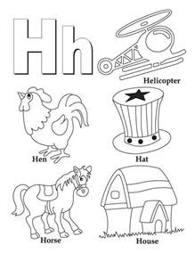 color that starts with z my a to z coloring book letter h coloring page