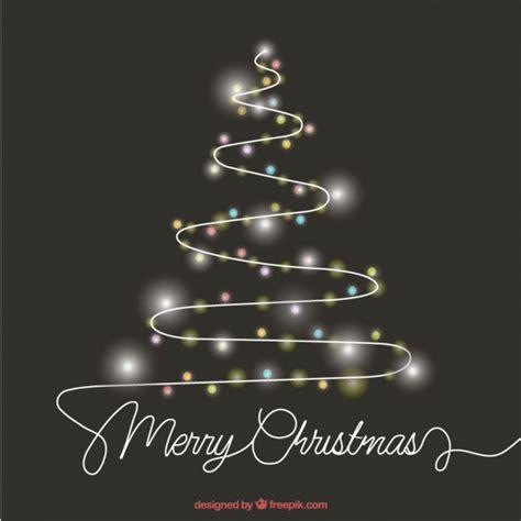 arbol de navidad vector 225 rbol de navidad abstracto hecho con luces descargar