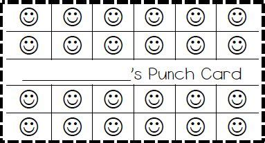 punch card template bullet classroom behavior ticket template also made elephant