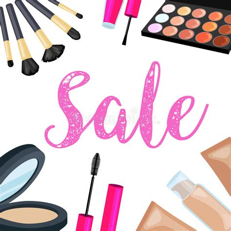 makeup cartoon wallpaper cosmetics sale sets of cosmetics on isolated background