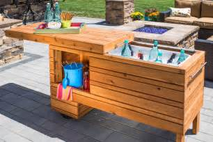 Patio Table With Cooler Remodelaholic Brilliant Diy Cooler Tables For The Patio With Built In Coolers Sinks And