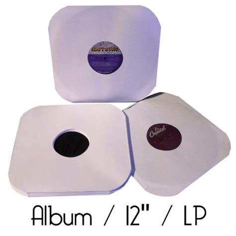 Evaluate Vinyl Records - 50 12 lp album white paper vinyl record sleeves protectors