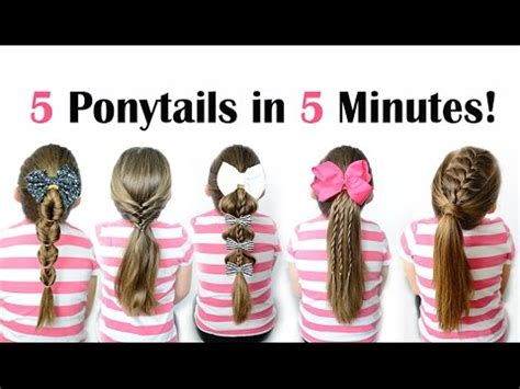 easy hairstyles for school in 5 minutes 5 ponytails in 5 minutes quick and easy ponytail
