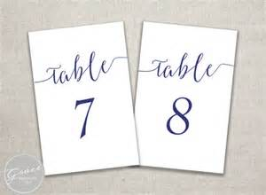 navy blue slant table number template printable instant