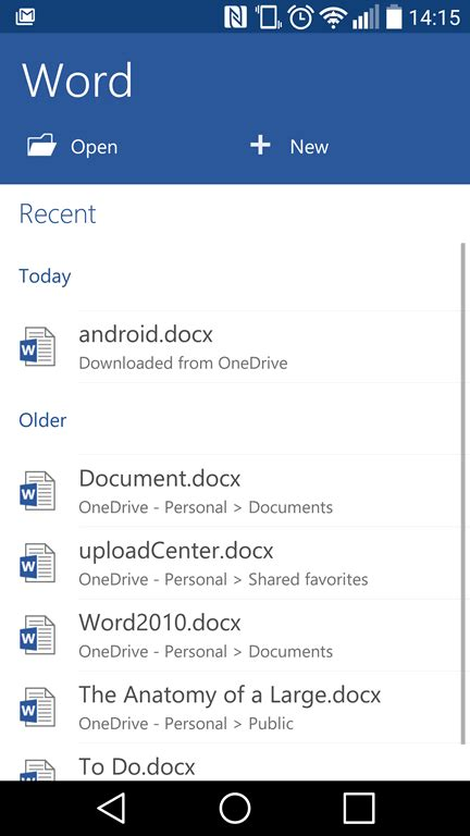 android word smartphone office word 2016 tutorials