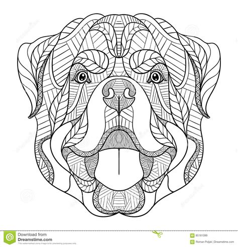 Rottweiler Coloring Pages Sketch Coloring Page Rottweiler Coloring Pages
