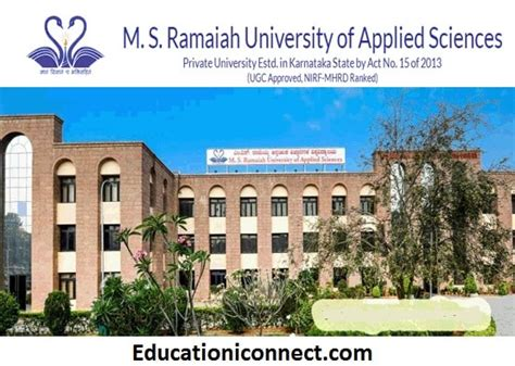 Ramaiah College Bangalore Mba Ranking by M S Ramaiah Bangalore Fee Structure 2018 19