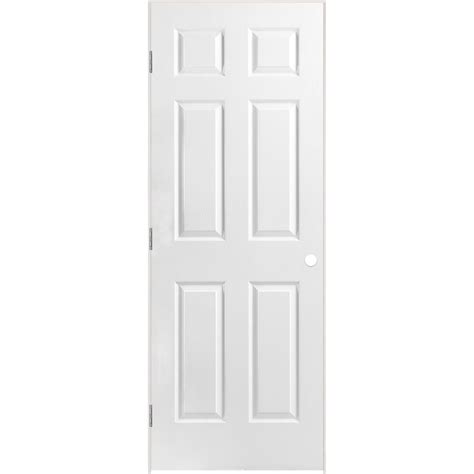 28 Inch 6 Panel Interior Door masonite 28 inch x 80 inch lefthand primed 6 panel