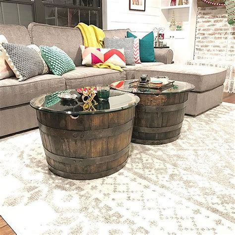 best 25 whiskey barrel coffee table ideas on