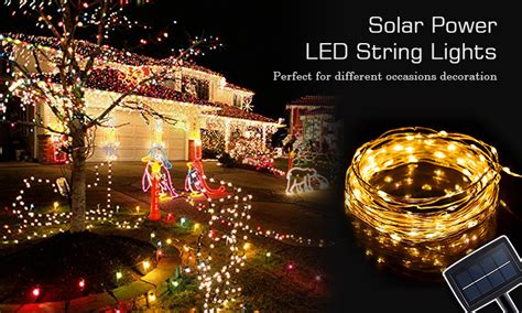solar powered light string solar powered led string lights led string lights gflai